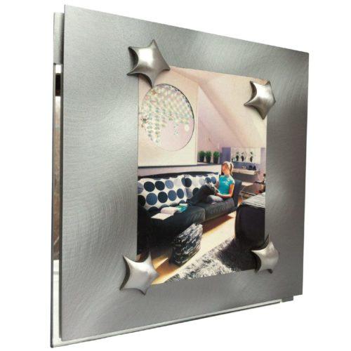 cadre magnétique table métal miroir
