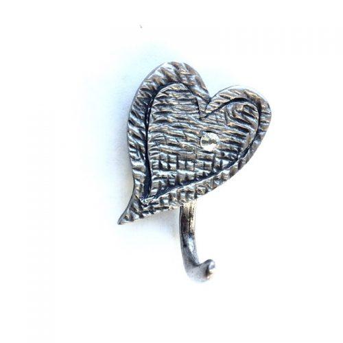aimant crochet coeur pierre rhin