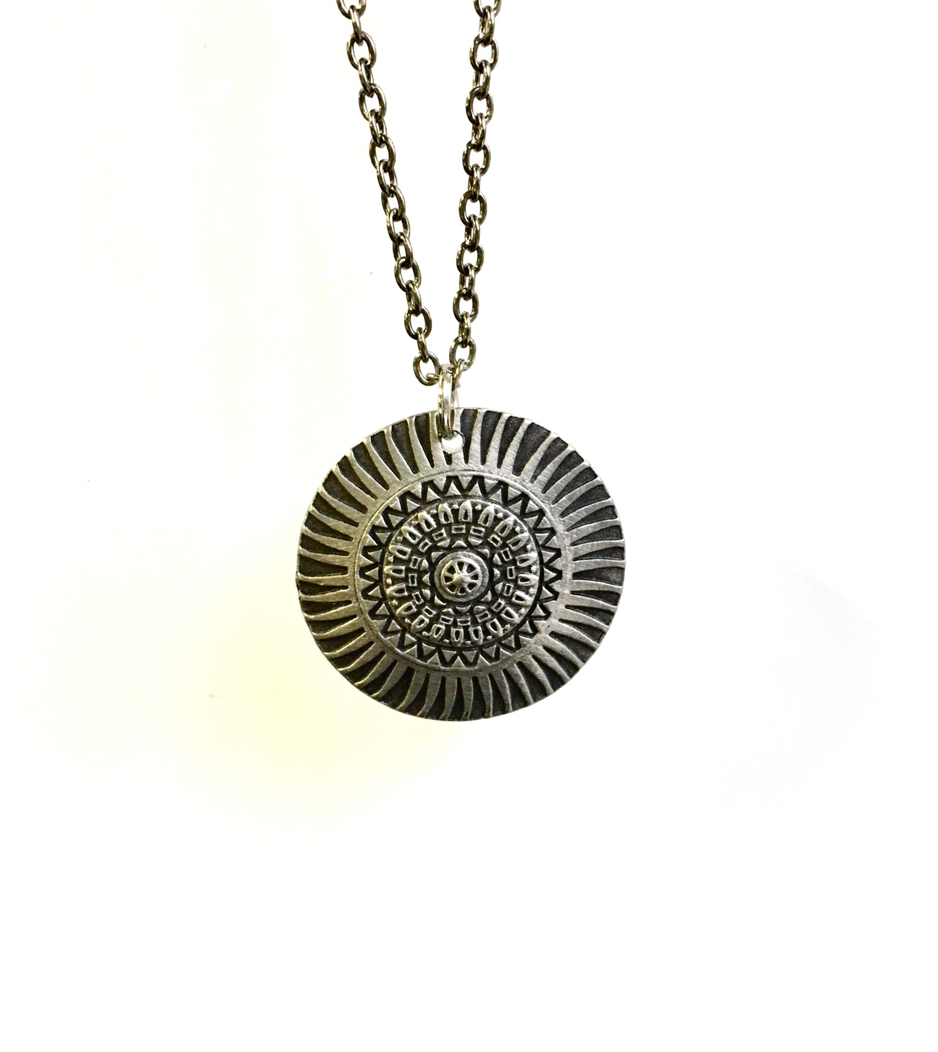 stamped mandala neklace workshop necklace event